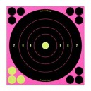 "Birchwood Casey Shoot-N-C 8"" Reactive Targets - 6 Pack - Pink"