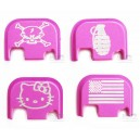 Pink Graphic Rear Slide Cover Plate for Glocks
